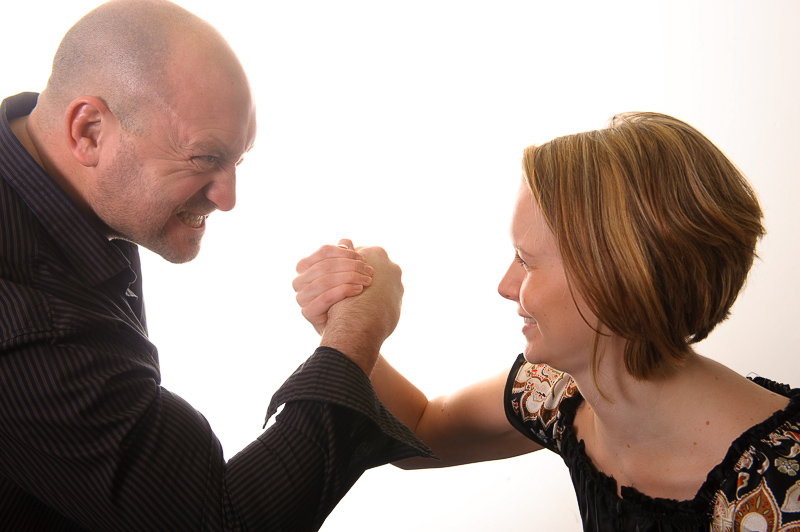 Dorset Commercial Headshot Photography posed arm wrestling