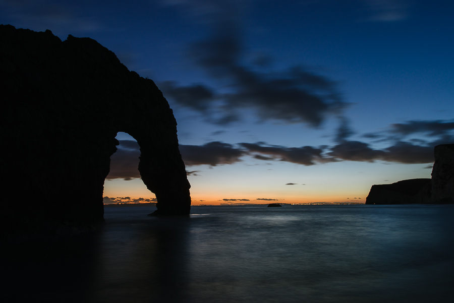 Dorset Landscape Photographer Durdle Door Sunset from beach