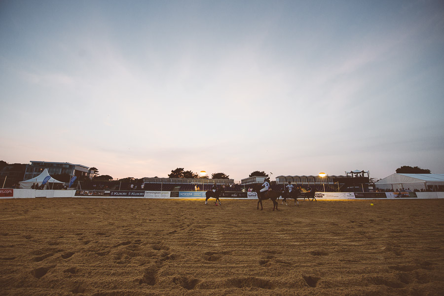 sandbanks beach polo sunsetting