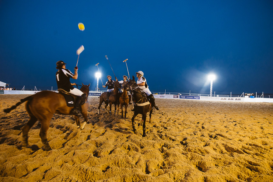 sandbanks beach polo horse action 12