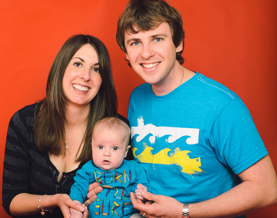 family photograph with young baby