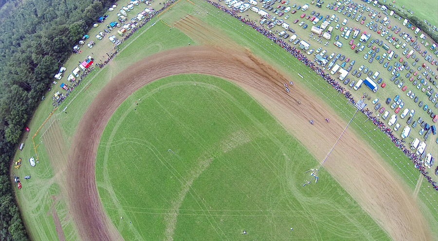 aerial photography dorset - motorcycle track
