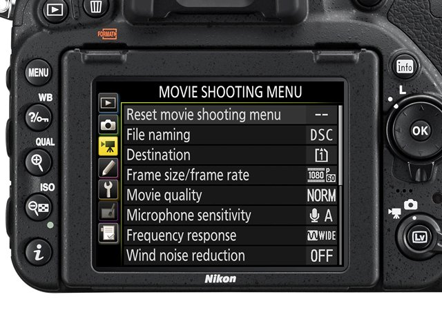 nikon d750 movie menu review