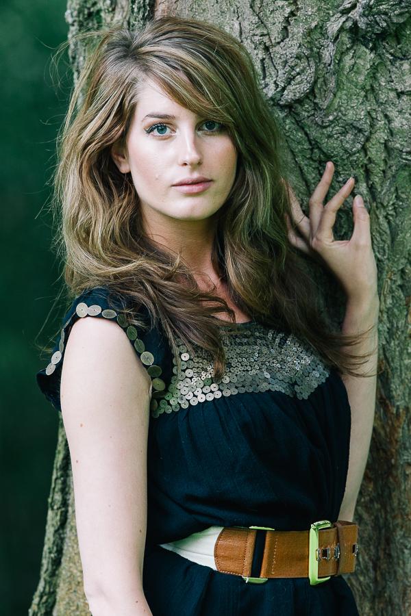 Dorset Model Portrait Photographer - Model by tree